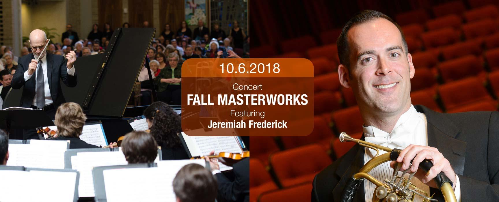2018 Fall Masterworks Concert