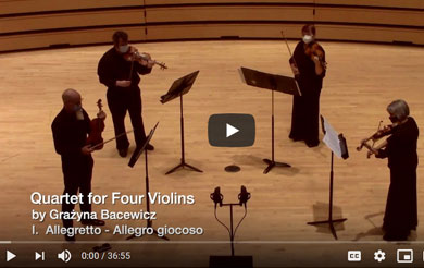 Quartet for Four Violins by Grażyna Bacewicz